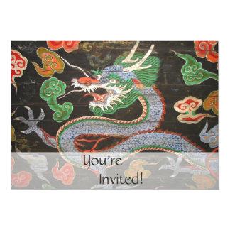 Helle bunte | Fantasie-Kunst des asiatischen 12,7 X 17,8 Cm Einladungskarte