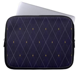 Helle Diamant-Marine-Raute Laptopschutzhülle