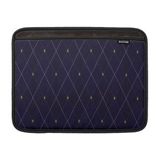 Helle Diamant-Marine-Raute MacBook Sleeve