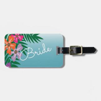 Helle farbige tropische Blumen-Braut Gepäck Anhänger