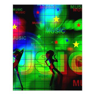 HELLE FARBmusik DANCI DER NEONlicht-music-163256 11,4 X 14,2 Cm Flyer