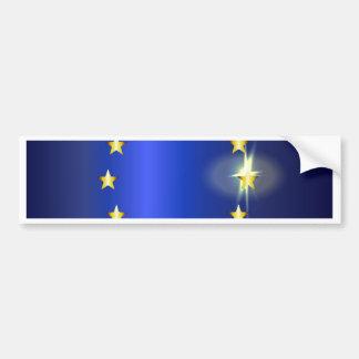 Helle Flagge EU Autoaufkleber