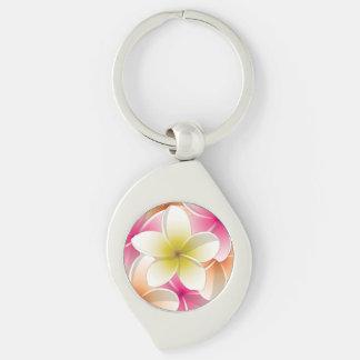 Helle Frangipani/plumeria-Blumen Schlüsselanhänger