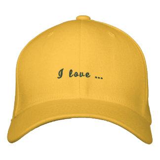 Helle gelbe kundenspezifische Kappe