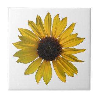 Helle gelbe Single-Sonnenblume Kleine Quadratische Fliese