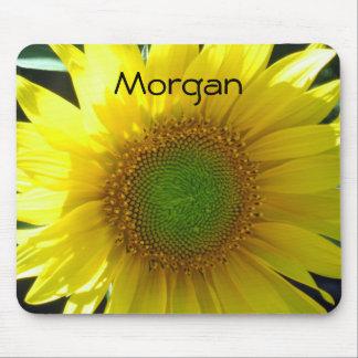 Helle gelbe Sonnenblume Mousepad