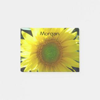 Helle gelbe Sonnenblume Post-it Haftnotiz
