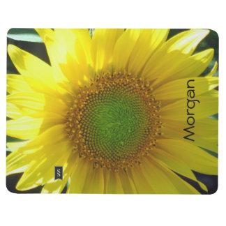 Helle gelbe Sonnenblume Taschennotizbuch