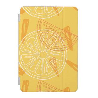 Helle gelbe Zitronen gezeichnetes Sommermuster iPad Mini Cover