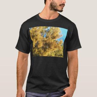 Helle gelbe Zweig-Blumen T-Shirt