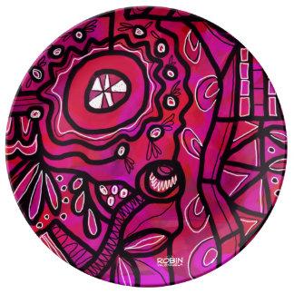 Helle geometrische Umhüllungs-Platte Teller