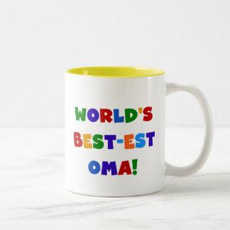 Helle Geschenke des Gut-est Oma der Welt Farb Zweifarbige Tasse