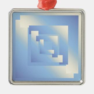 helle Himmelfarben Silbernes Ornament