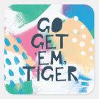 Helle Inspiration II | gehen erhalten ihnen Tiger Quadratischer Aufkleber