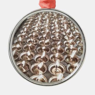 Helle Lampen Silbernes Ornament