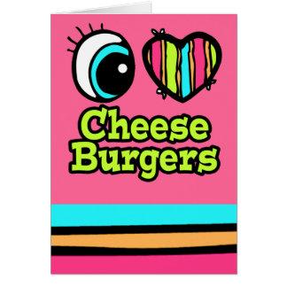 Helle Liebe-Cheeseburger des Augen-Herz-I Karte