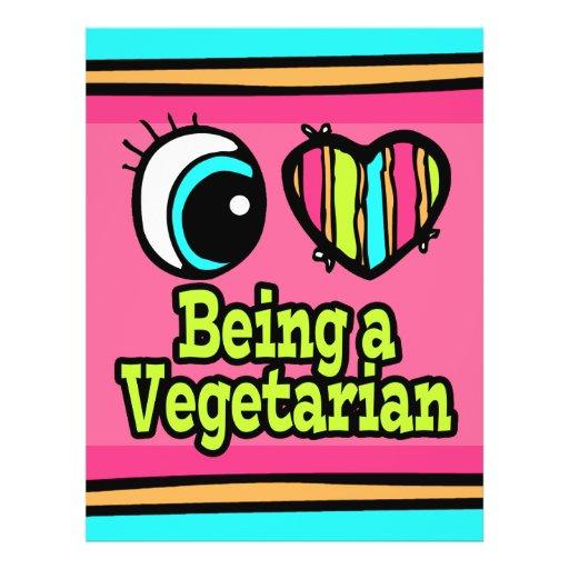 Helle Liebe des Augen-Herz-I, die ein Vegetarier i Flyerdruck