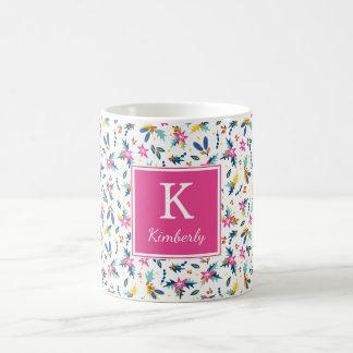 Helle personalisierte mit BlumenTasse Kaffeetasse