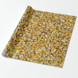 Helle Popcorn-Kerne Geschenkpapier