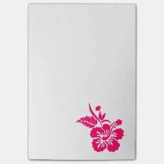 Helle rosa hawaiische Blumen Post-it Klebezettel