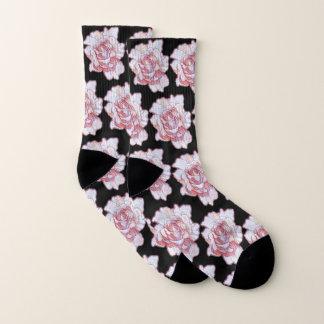 Helle Rosen-Blüte gemustert Socken