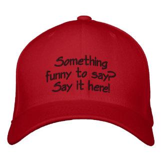 Helle rote kundengerechte Kappe
