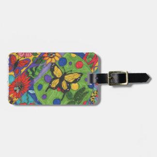 Helle Schmetterlings-Blumen für Frühling Kofferanhänger