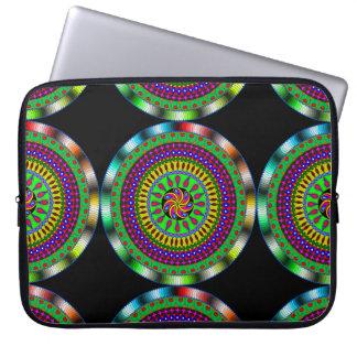 Helle u. bunte mystische Mandala-Laptop-Hülse Computer Sleeve Schutzhüllen
