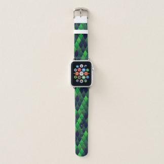 Helle und dunkelgrüne Diamanten Apple Watch Armband