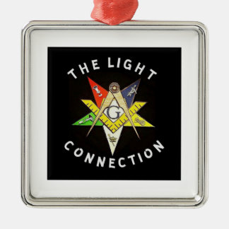 Helle Verbindung Quadratisches Silberfarbenes Ornament