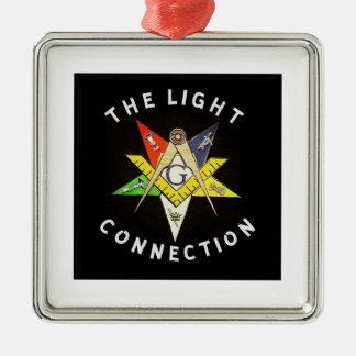 Helle Verbindung Silbernes Ornament