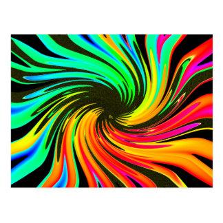Helle Whirling Neonlicht-Strudel-Galaxie Postkarte