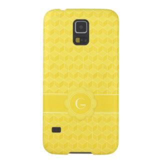 Helle Würfelkaskade des Gelbs 3D Samsung Galaxy S5 Hülle