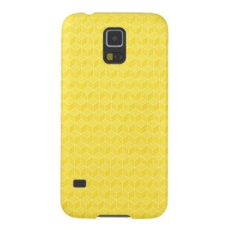 Helle Würfelkaskade des Gelbs 3D Samsung Galaxy S5 Hüllen
