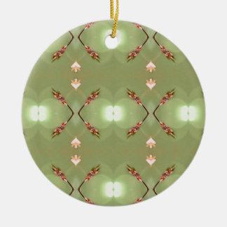 Heller Airy Pfirsich-Limones künstlerisches Muster Keramik Ornament