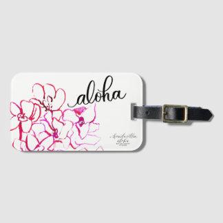 Heller Aloha Orchideen-Blumen-Gepäck-Umbau Gepäckanhänger