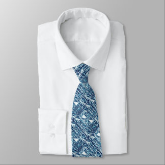 Heller blauer mutiger Boshi Shibori Block modern Individuelle Krawatten