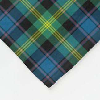 Heller blauer und grüner Watson-ClanTartan Fleecedecke