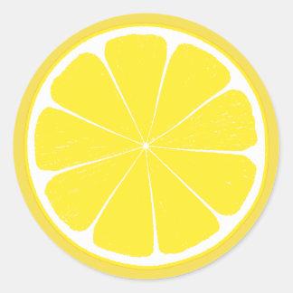 Heller gelber runder aufkleber