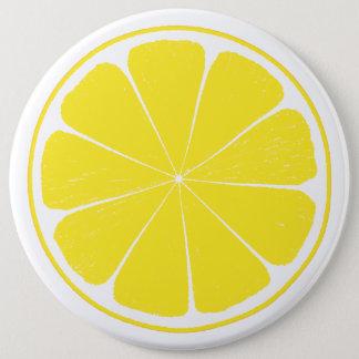 Heller gelber runder button 15,3 cm