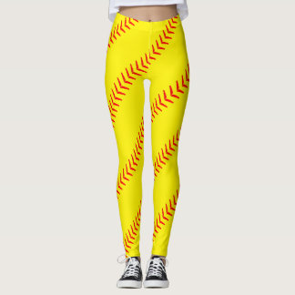 Heller gelber Softball näht (Naht-) Gamaschen Leggings