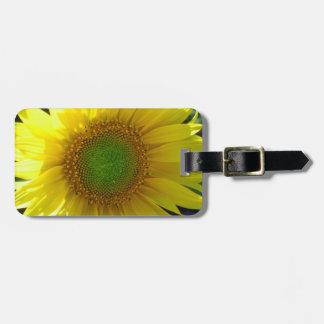 Heller gelber Sonnenblume-Gepäckanhänger Gepäckanhänger