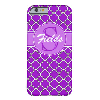 Heller lila Quatrefoil Monogramm iPhone 6 Kasten Barely There iPhone 6 Hülle