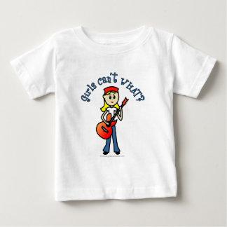 Heller Mädchen-Gitarrist Baby T-shirt