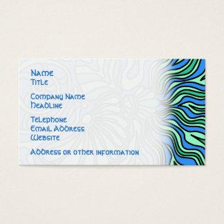 Heller Ozean-Thema-Entwurf Visitenkarte