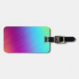 Heller Regenbogen farbiger abstrakter Kofferanhängern