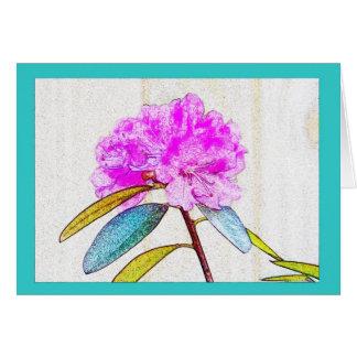 Heller Rhododendron in den elektrischen Farben! Grußkarte