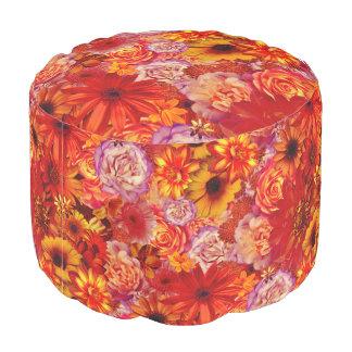 Heller Rojo mit Blumenblumenstrauß-reiche glühende Hocker
