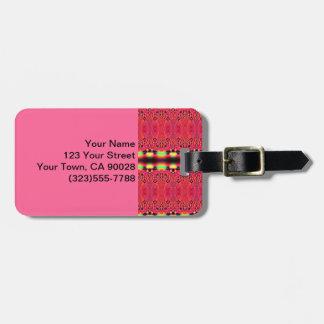 Heller rosa abstrakter Entwurf Kofferanhänger