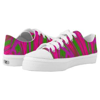 Heller rosa grüne FarbSwish Niedrig-geschnittene Sneaker